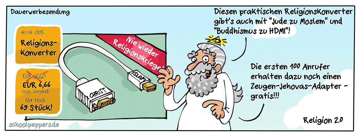 Keine Religionskriege mehr: Jetzt kaufen!