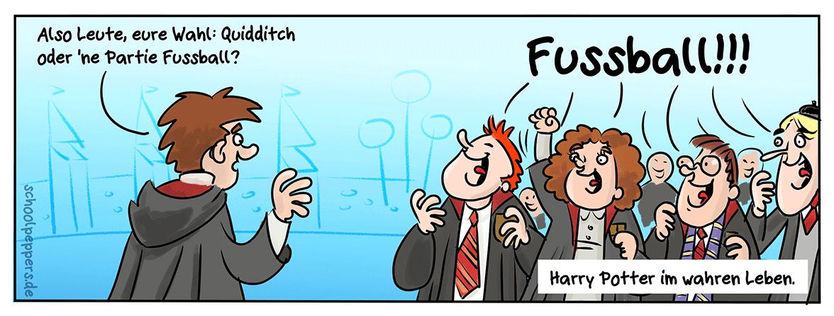 Rote Karte für Quidditch.