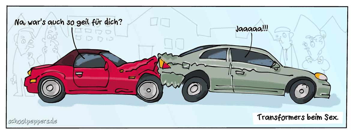 Alienaktivitäten im Straßenverkehr.