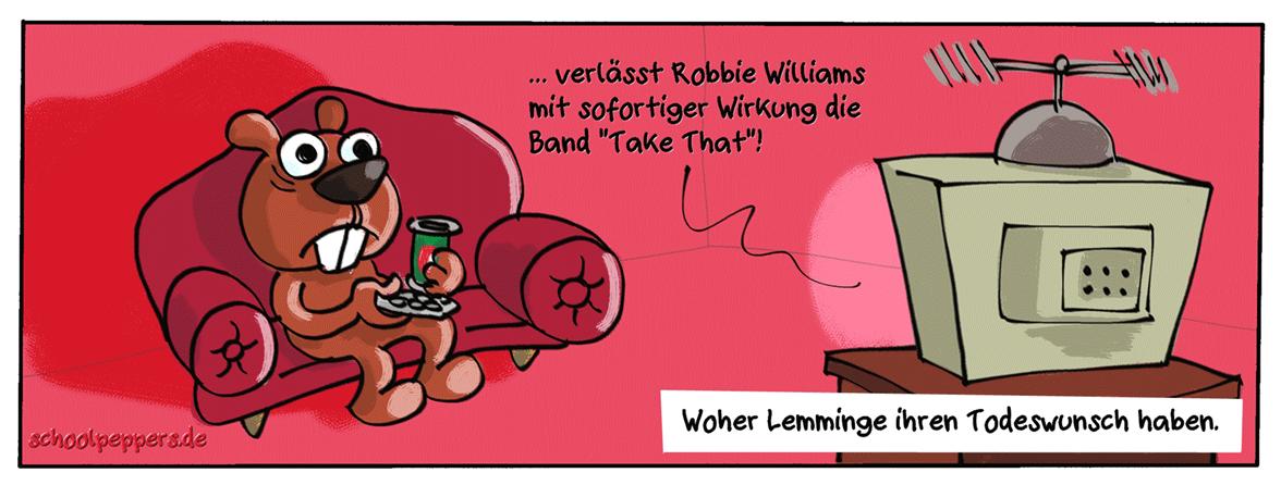Mein erster Lemming-Cartoon.