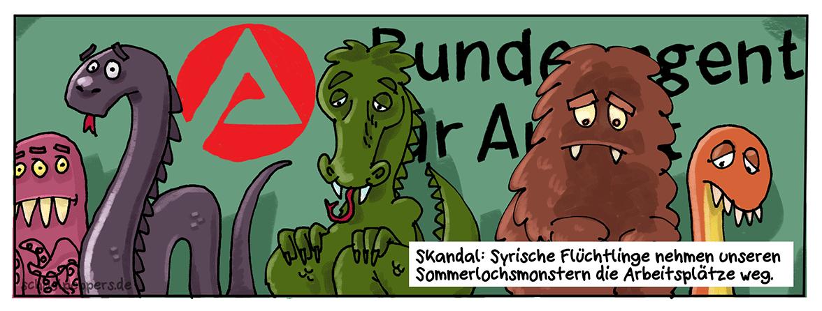 Sommerlochmonster suchen 1 Euro-Job.