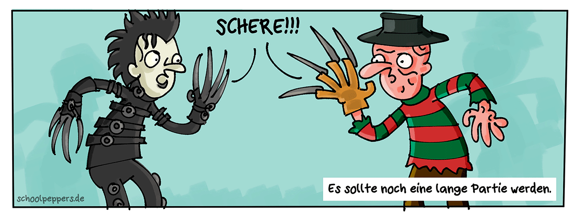 """Ein Leben lang """"Stein, Schere, Papier""""."""