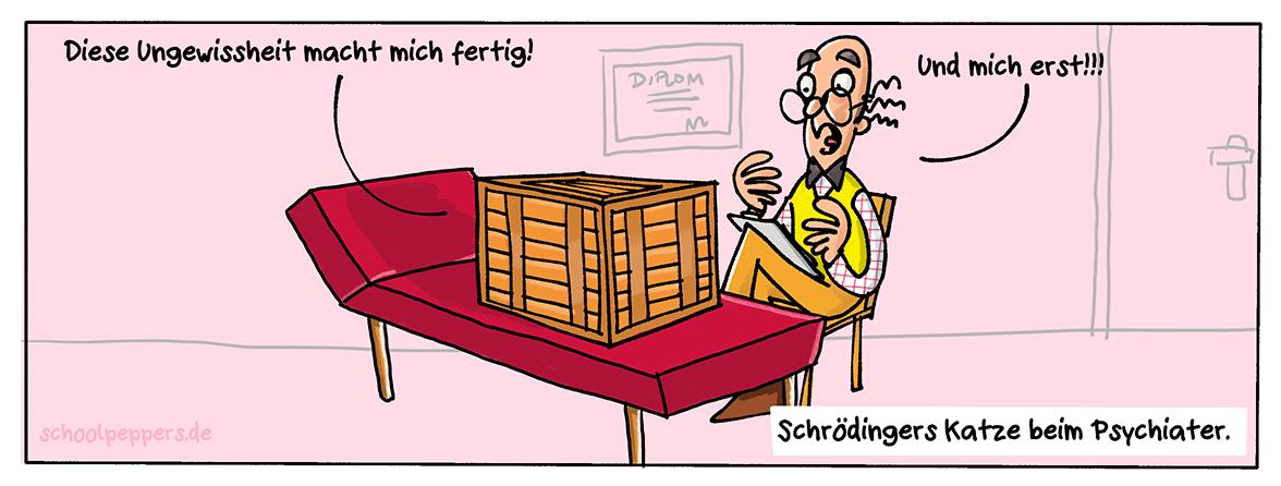 Ein ungewisser Cartoon.