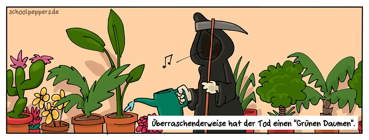 Der grüne Reiter der Apokalypse.