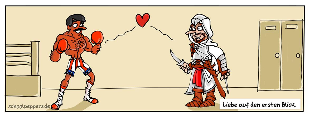 Liebe auf dem ersten Creed.